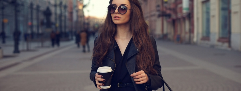 Woman with designer handbag